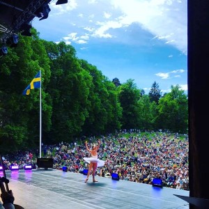 25000 in the audience in Hagaparken.
